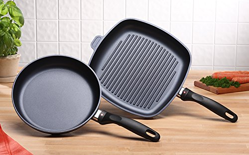 Swiss Diamond 2 Piece Set: Fry Pan and Grill Pan