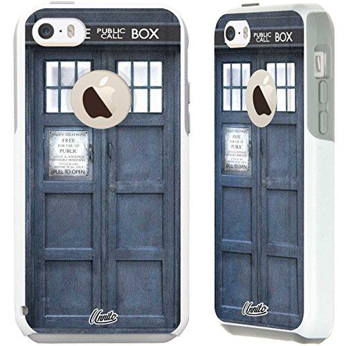 Unnito iPhone 5c Case - Commuter Case for iPhone 5c Case - Hybrid Slim Cover With Hard Shell and Soft Inner Layer For Apple iPhone 5c White Case - Tardis Dr Who