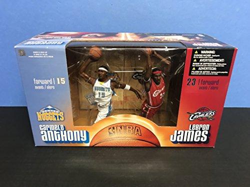 Carmelo Anthony vs Lebron James Denver Nuggets Cleveland Cavaliers McFarlane Action Figure Set