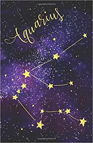 journal notebook zodiac sign aquarius constellation blank journal to write in unlined for journaling writing planning and doodling for women easy to carry size plain journal volume 1