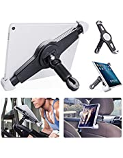 JUBOR Upgrade Bigger Bike Tablet Holder, Portable Bicycle Car Tablet Mount for Indoor Gym Treadmill, Spinning, Exercise Bike for Big Sizes Tablet, iPad, iPad Air, iPad Pro (Fit Above 9.5 inches)