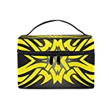 MaMacool Tribal Tattoo Design Cosmetic Bags for women Travel Makeup Toiletry Organizer Case