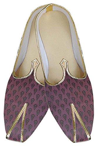 INMONARCH Mens Magenta Brocade Wedding Shoes MJ0084 pr5MBfXl