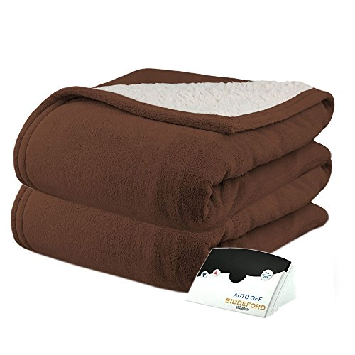 Pure WarmthMicroPlush Sherpa Electric Heated Blanket Full Ch