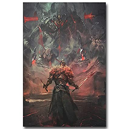 Amazon Com Lawrence Painting Dark Souls 1 2 3 Art Canvas