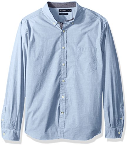 Nautica Men's Classic Fit Stretch Solid Long Sleeve Button Down Shirt, Light French Blue, X-Large