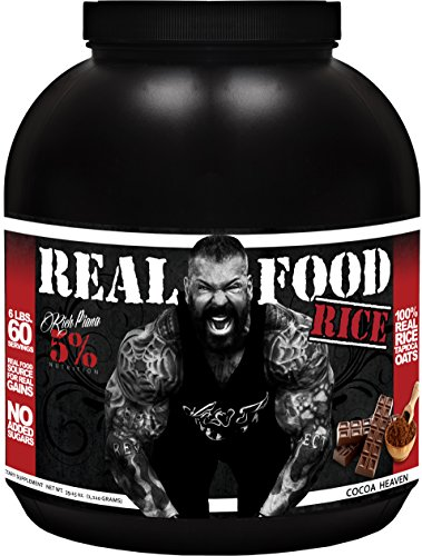Rich Piana 5% Nutrition Real Food RICE (Cocoa Heaven) 78.30oz (2,220 Grams) 60 Servings