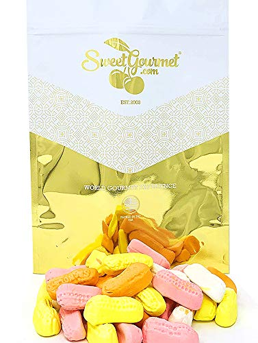 SweetGourmet Colored Circus Peanuts   Retro Marshmallow Candy   2.5 Pounds