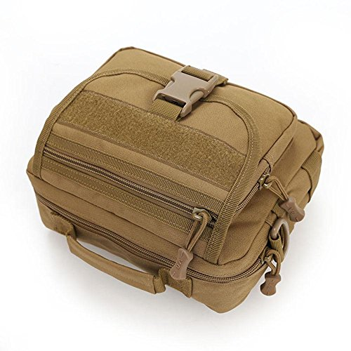 Brown Bag Unisex Shoulder Handbag Camo Hiking Widewing Sports Waterproof Crossbody Outdoor vfzqxwH