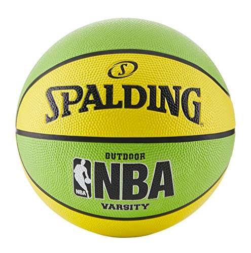 Spalding NBA Varsity Neon Outdoor Basketball - Green/Yellow - Official Size 7 (29.5