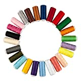 TRIXES 24 X Coloured Cotton Assorted Sewing Thread Reels