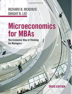 Microeconomics for mbas the economic way of thinking for managers microeconomics for mbas the economic way of thinking for managers fandeluxe