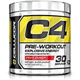 C4 Icy Blue Razz Fourth Generation C4 Pre Workout 30 Servings