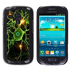 Paccase / SLIM PC / Aliminium Casa Carcasa Funda Case Cover para - Neural Brain Science Biology - Samsung Galaxy S3 MINI NOT REGULAR! I8190 I8190N