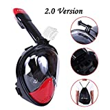 Snorkel Mask 2.0,Airbay New 180°Panoramic Full Face View and Easy Breath Surface Diving Design, Action GoPro Camera Compatible, Anti Fog & Anti Leak Snorkeling for Adult and Youth
