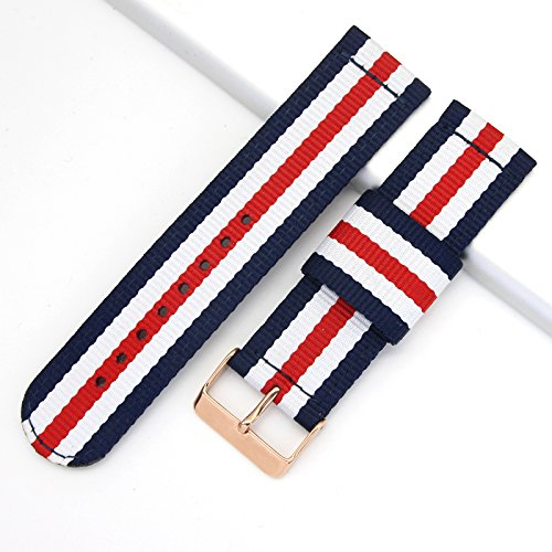 Top Grade Nylon Watch Straps Bands Nato style 20mm Replacements for Men Colorful Military Casual Durable by autulet (Image #2)
