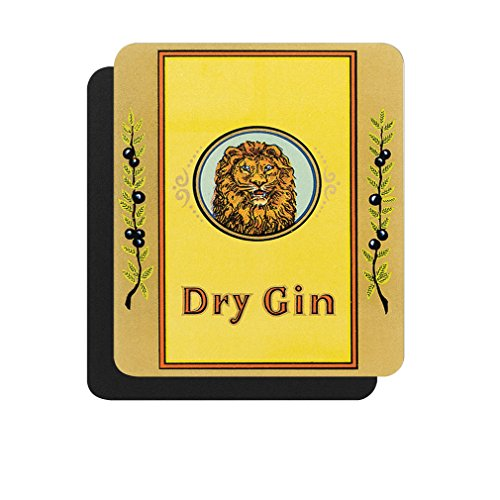 Dry Gin Vintage Poster Computer Laptop Mouse Pad (Dry Gin Vintage)