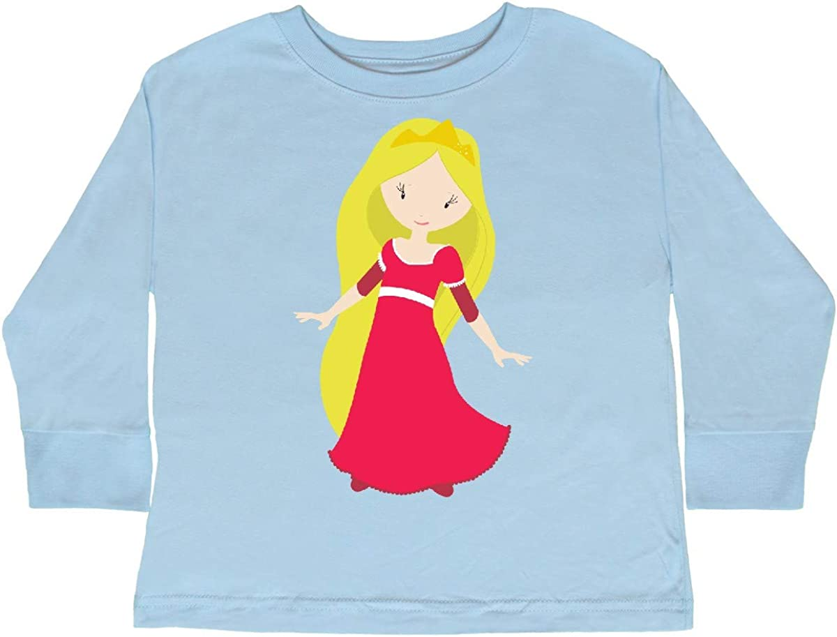 inktastic Cute Princess Blonde Hair Princess in Toddler Long Sleeve T-Shirt