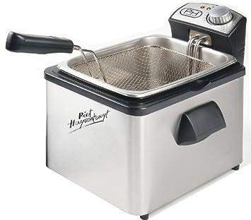 Medio freidora 3,5 litros de capacidad, acero inoxidable (para freír la carne y patatas fritas, 3000 W): Amazon.es: Bricolaje y herramientas