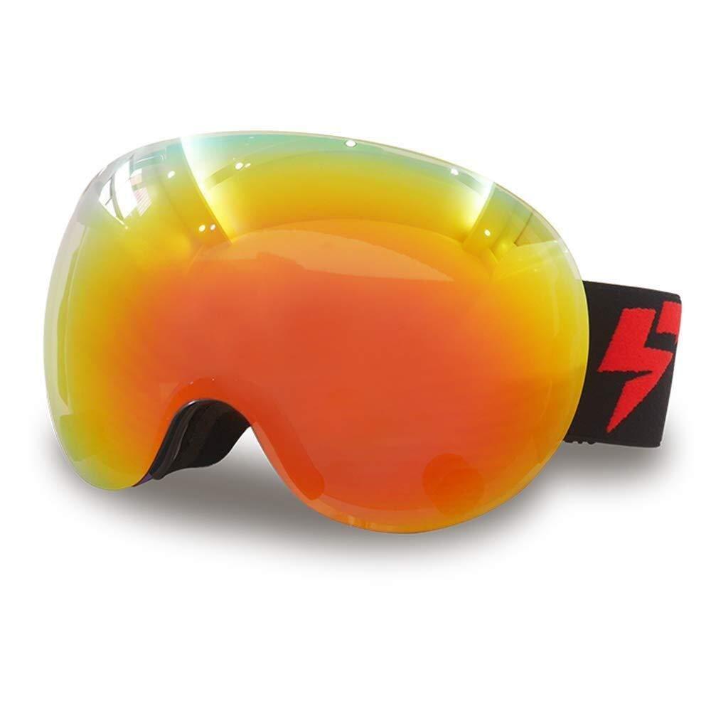 スキーゴーグルアンチフォグUV保護交換可能レンズサングラスマグネットでレンズを変更可能ミラー付きアンチグレアワイドビジョンクラリティレンズ dfe41d42fg