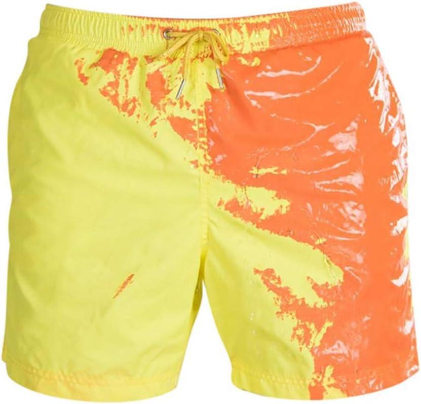 da uomo ad asciugatura rapida Zoloyo Costume da bagno da ragazzo che cambia colore Rosa//Rossa. estivo small pantaloncini da spiaggia per bambini