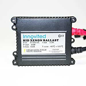 Innovited 35w 12v HID Replacement Slim Ballast for H1 H3 H4 H7 H10 H11 9005 9006 D2r D2s All Sizes