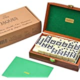 Luxurious Dominoes Double 9 Set - Mahogany Cased - Luxury Dominoes Set