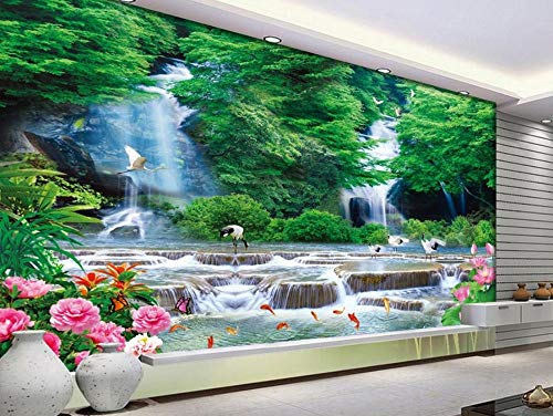 Dimensional Waterfall - Custom nonwoven Wallpaper Three - Dimensional Landscape Waterfall Landscape Living Nature Wallpapers Zxfcccky-280X200CM