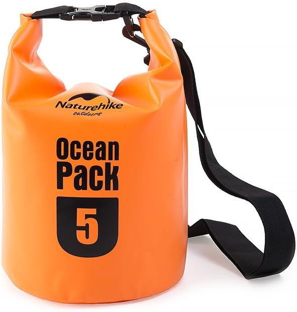 HYSENM Pack Saco – Petate Ocean Pack PVC 5L/10L/20L, Naranja, Large: Amazon.es: Deportes y aire libre