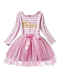 Girl Shinny Stripe Baby Sleeveless Printed Tutu Cake Smash Birthday Dress
