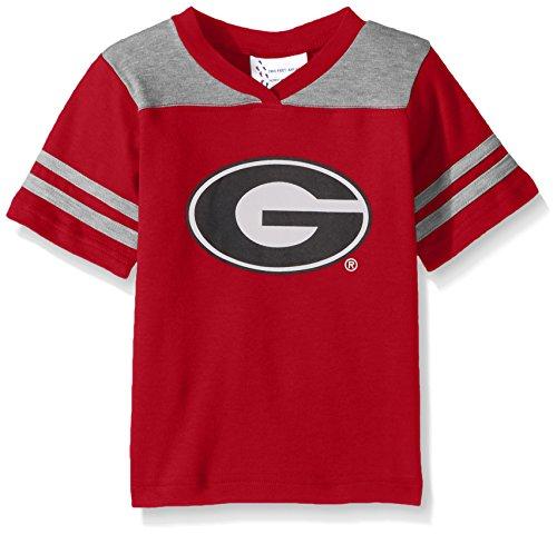 NCAA Georgia Bulldogs Toddler Boys Football Shirt, Red, 2