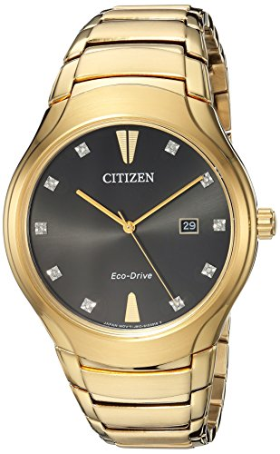 Citizen Men's 'Eco-Drive' Quartz Stainless Steel Casual Watch, Color:Gold-Toned (Model: AW1552-54E) by Citizen