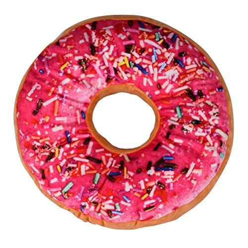 TOOPOOT Donut Shaped Soft Throw Pillow Seat Cushion Sofa Cushion (hot pink) -