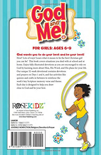 God and Me! 52 Week Devotional for Girls Ages 6-9