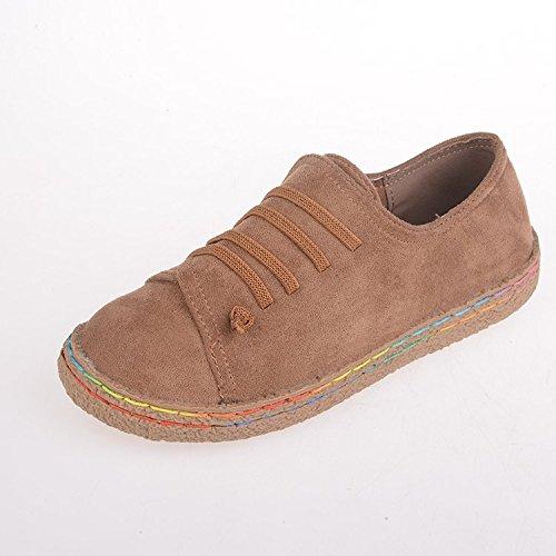 Donyyyy Mujer, mujer calzado casual zapatos de salón, lijado y lijado solo zapatos Forty