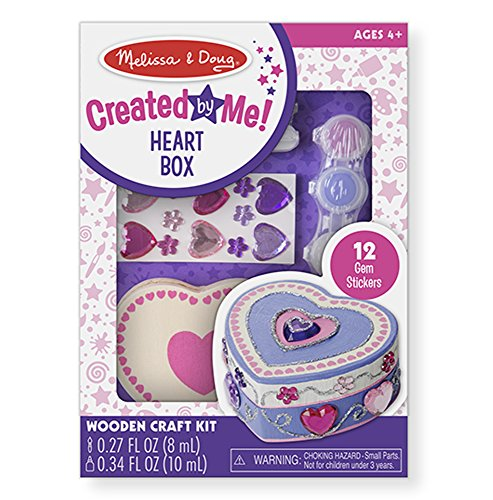 Wooden Heart Box - Melissa & Doug Decorate-Your-Own Wooden Heart Box Craft Kit