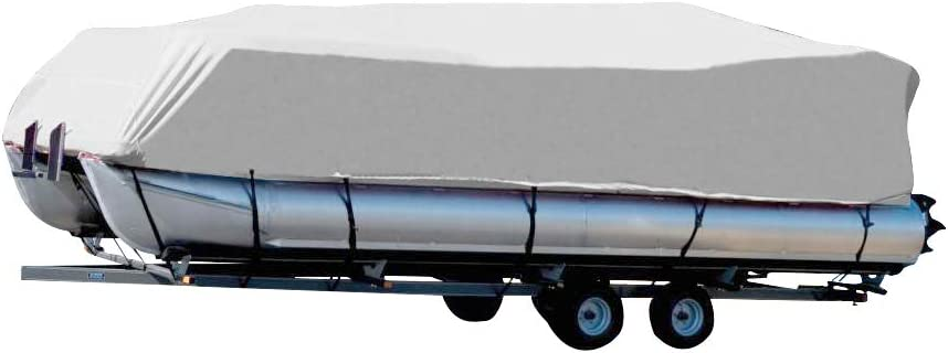 Seamander Boat Cover Waterproof Trailerable Heavy Duty Pontoon Non-Abrasive Lining