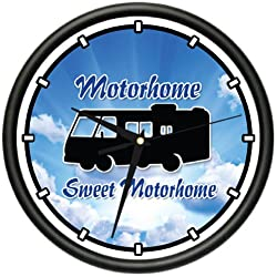 SignMission Sweet Motorhome Wall Clock Touring Camping Gag Gift, Beagle