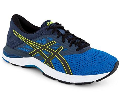 jaune bleu de para 5 Running Asics Hombre Gel foncà Flux Zapatillas noir fluo qYwxPI8