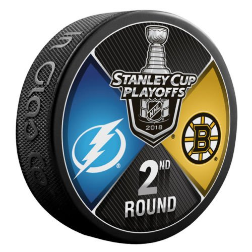 - The Hockey Company 2018 Stanley Cup Playoffs 2nd Round Puck Dueling Teams Bruins VS. Lightning 2ND Round Boston Tampa Bay
