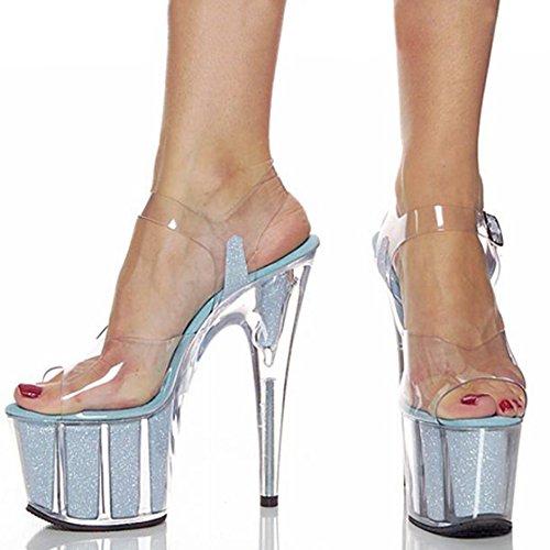 blue punta sexy donna tacco YMFIE sandali di alta tacco nozze party moda con party alto scarpe Estate xWnaInwB4