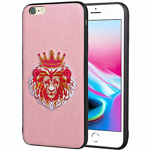 iPhone 6 Case,SUNWAY 3D Embroidery Case Slim Sleeves Protective Full Cover Cases for iPhone 6 - Lion