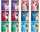 Blue Buffalo Divine Delights Wet Dog Food 6 Flavor Variety Bundle: (2) Duck, (2) Lamb, (2) Chicken, (2) Turkey, (2) Salmon, and (2) Beef, 3 Ounces Each (12 Pouches Total)