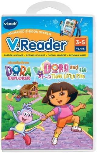 - V.Reader Animated E-Book Cartridge - Dora and the Three Little Pigs by VTech