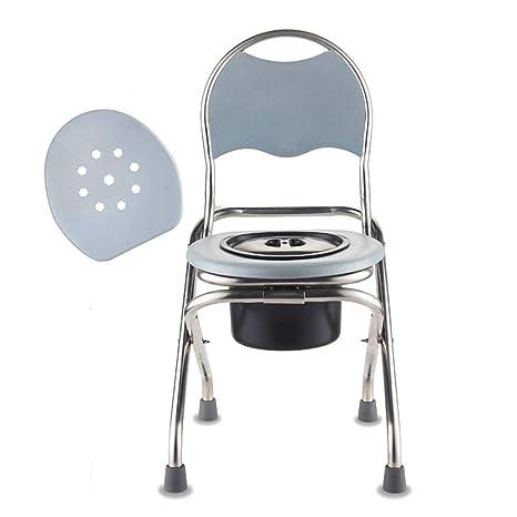 Silla WC con Inodoro Plegable, Silla para Ducha y w.c.sin ...