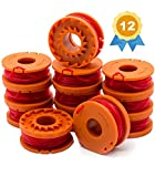 Garden Ninja Replacement 10ft Trimmer/Edger Spool Compatible WORX WA0010, 12-Pack