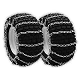 OakTen Set of Two Tire Chain Fits 5.3x12, 10x6x6, 12x7x4, 12.5x4.50x6, 13x4.1, 13x4.00x5, 13x4x6, 13x5.00x6, 13x5.00x7