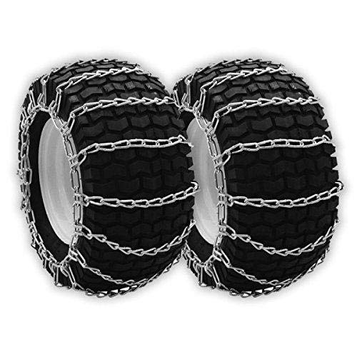 OakTen Set of Two Tire Chain Fits 5.3x12, 10x6x6, 12x7x4, 12.5x4.50x6, 13x4.1, 13x4.00x5, 13x4x6, 13x5.00x6, 13x5.00x7 ()