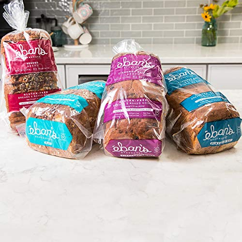 Eban's Bakehouse Fresh Baked Gluten-Free Bread - 4 Loaf Variety Pack - Cinnamon Raisin, Flaxseed Oat, Seeded, and Oat - 100% Natural - Soy, Wheat and Dairy Free, Preservative Free (26oz, 737g Each)