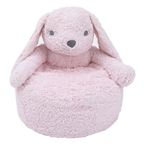 Cuddle Me Luxury Plush Chair, Bunny Pink by Cuddle Me